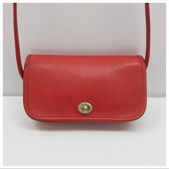 ab164aa231 Coach Handbags - Vintage  Coach  NYC Red Dinky
